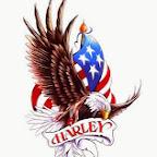 harley usa flag - tattoos for men