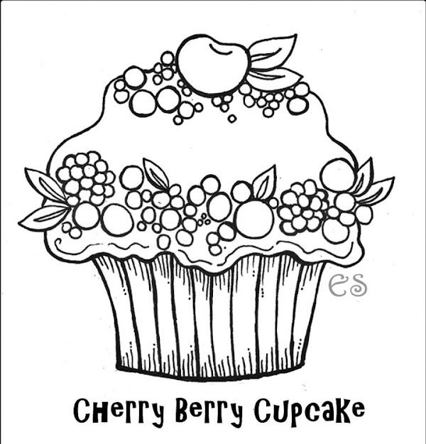 Cupcake Coloring Page Free Printable Cupcake Coloring Pages For Kids Sheets