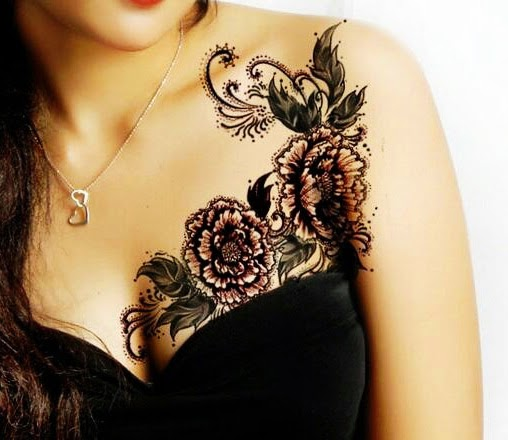 Tattoo Designs Breast: 36 Awesome Collar Bone Tattoo Ideas