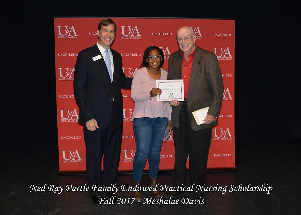 Fall 2017 Foundation Scholarship Ceremony - Ned%2BRay%2BPurtle%2BFamily%2BEndowed%2BPractical%2BNursing%2BScholarship%2B-%2BMeshalae%2BDavis.jpg