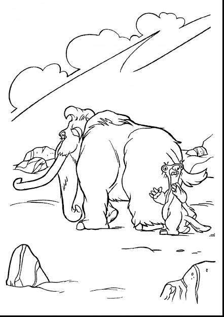 Beautiful Ice Age Tyranosaurus Colouring Pages With Ice Age Coloring Pages  And Ice Age Coloring Pages
