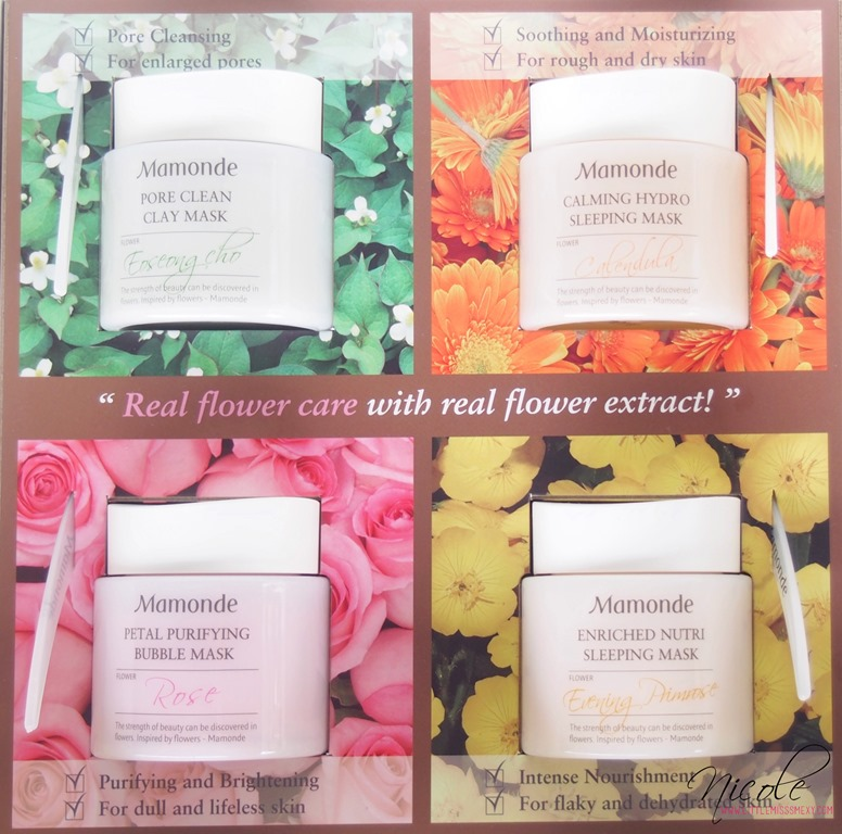 Mamonde Flower Facial Mask Line
