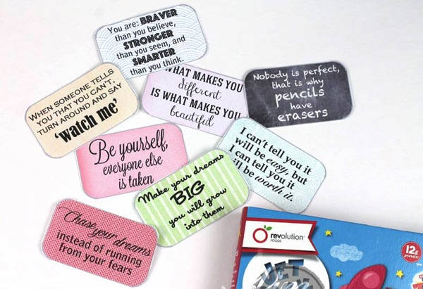 Encouraging lunchbox notes for kids