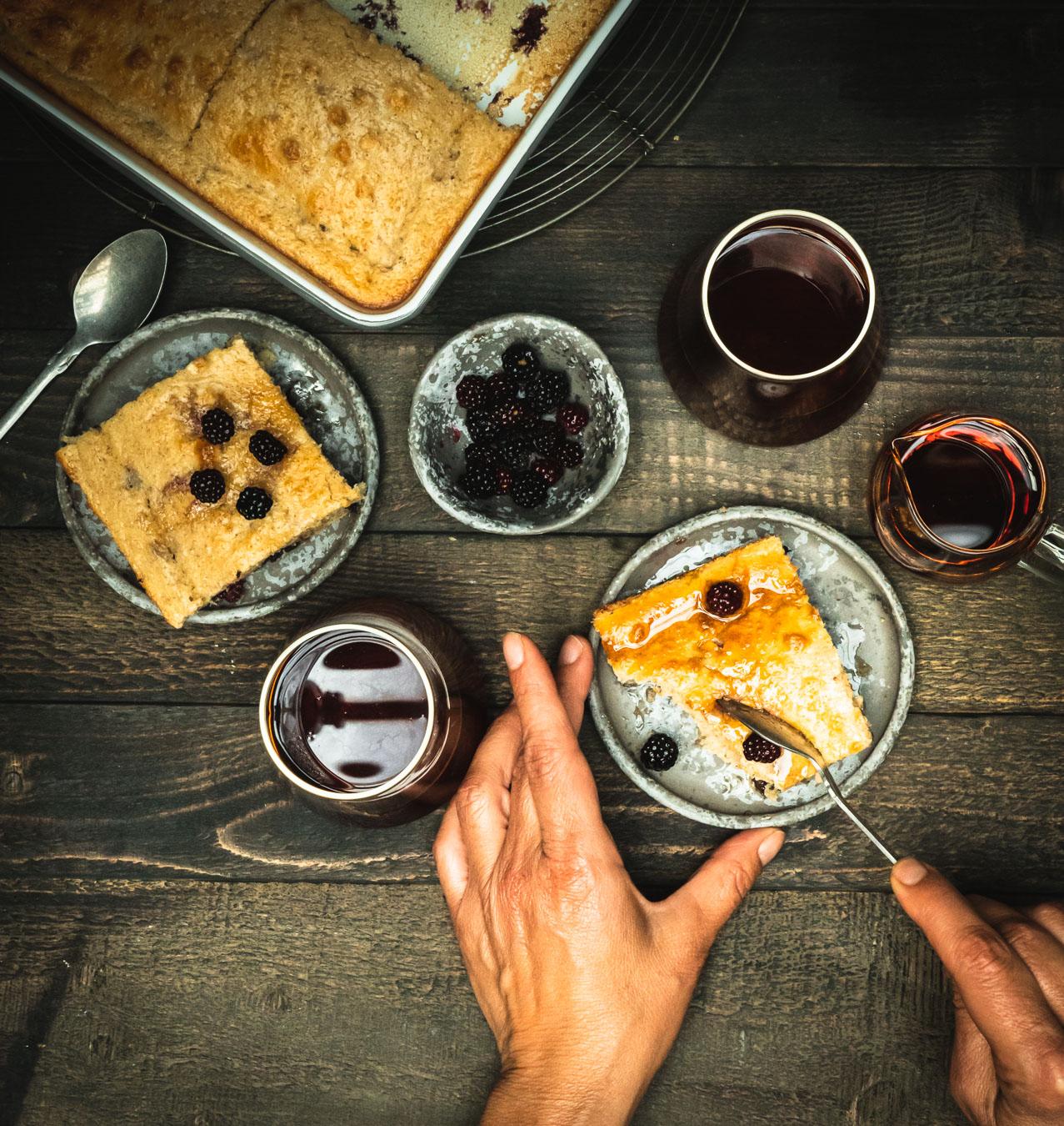 pancakes, pancakes aux mûres, brunch