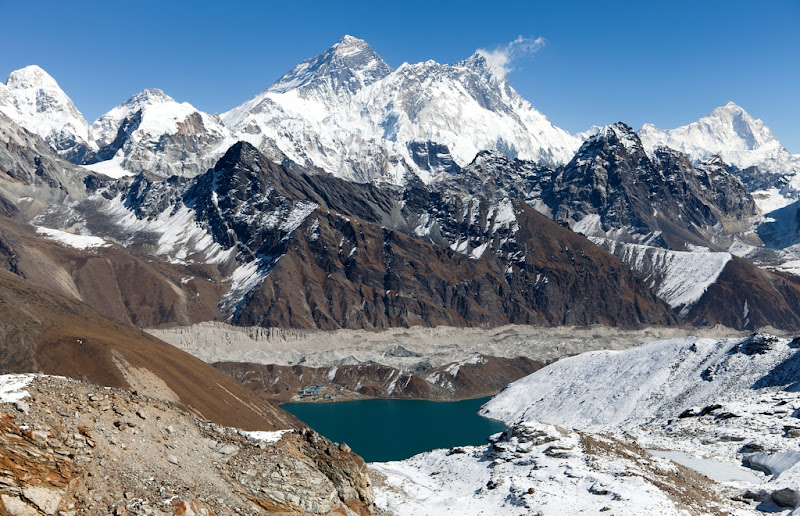 Three Passes Trek, Renjo La Pass-View of Everest-Lhotse-Makalu