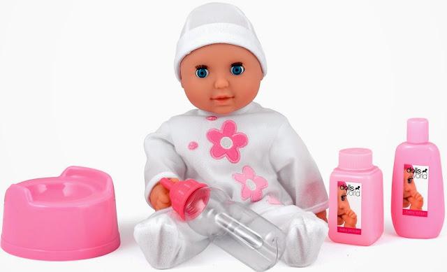 Búp bê Em bé Sophie đáng yêu trong bộ quần áo màu trắng tinh tươm