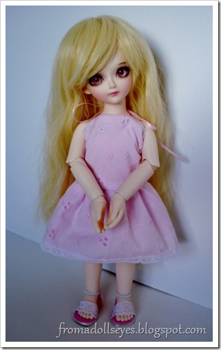 Of Bjd Fashion: Pretty and Pink and Short? Cute pink halter dress for yosd sized ball jointed doll