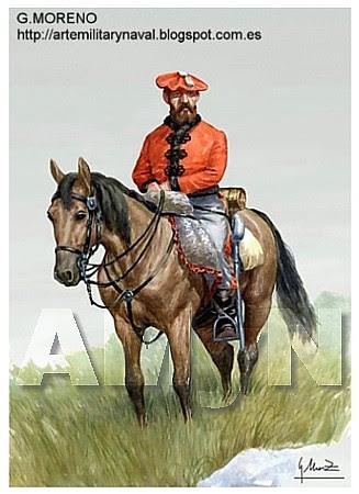 Lanceros de Guipúzcoa. 1835