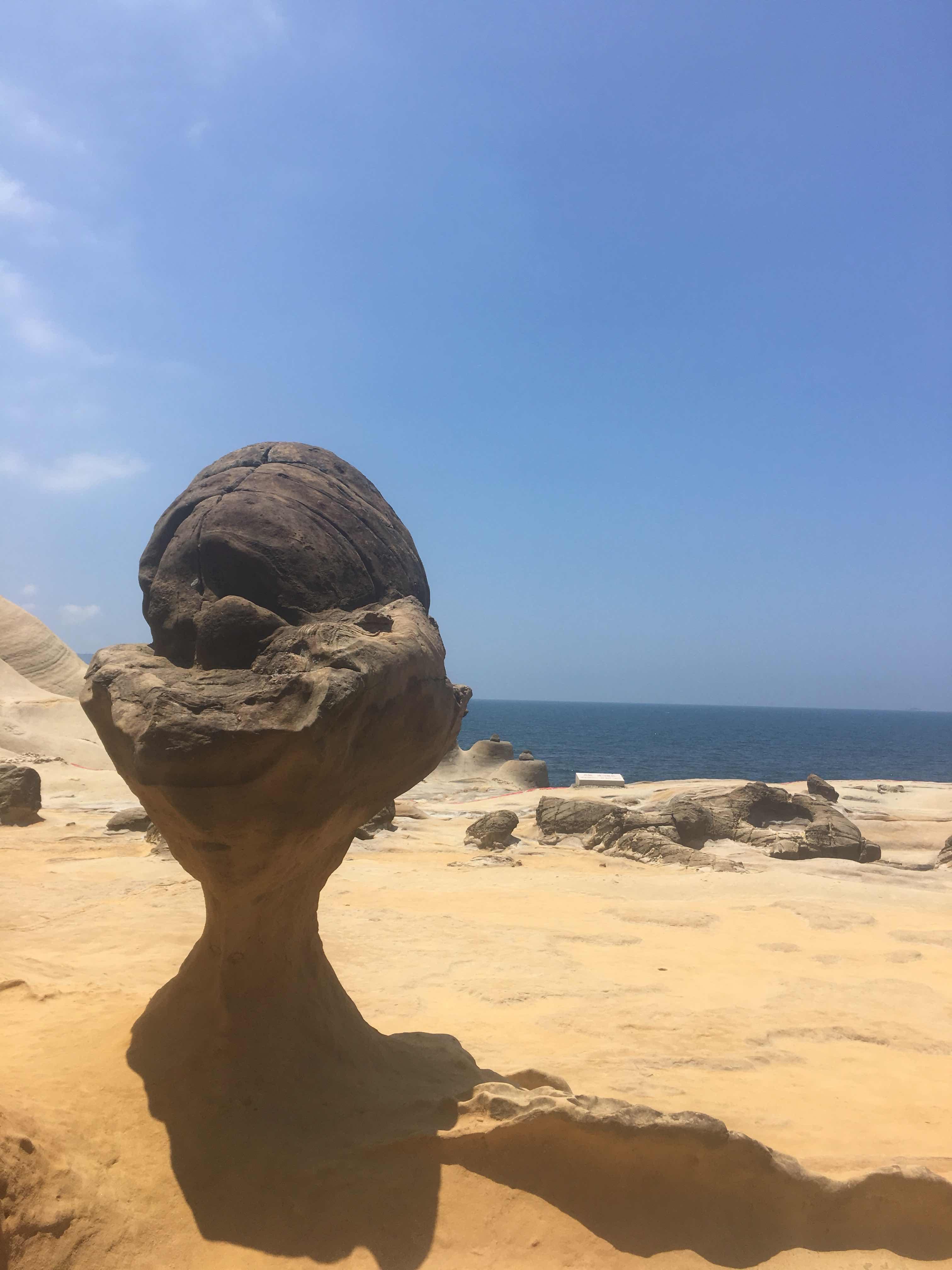 yehliu geopark queen's head yehliu peninsula north coast taipei taiwan ice cream rock