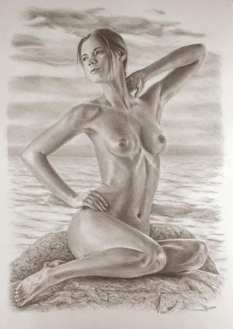 Aires de sirena,dibujo de Jose Luis Romero Rodríguez