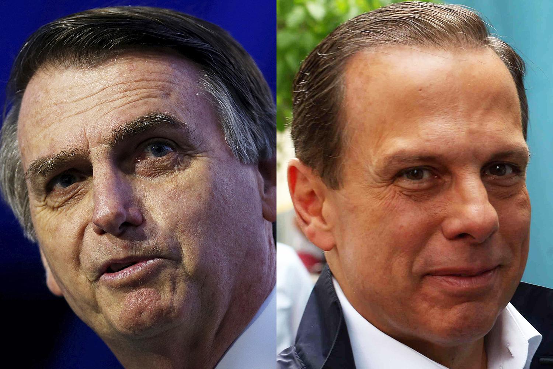 """Bolsonaro critica Doria ao falar de vacina: """"Tá se intitulando o médico do Brasil"""""""