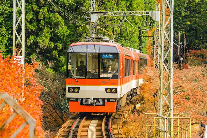 京都 叡山電車 紅葉 写真