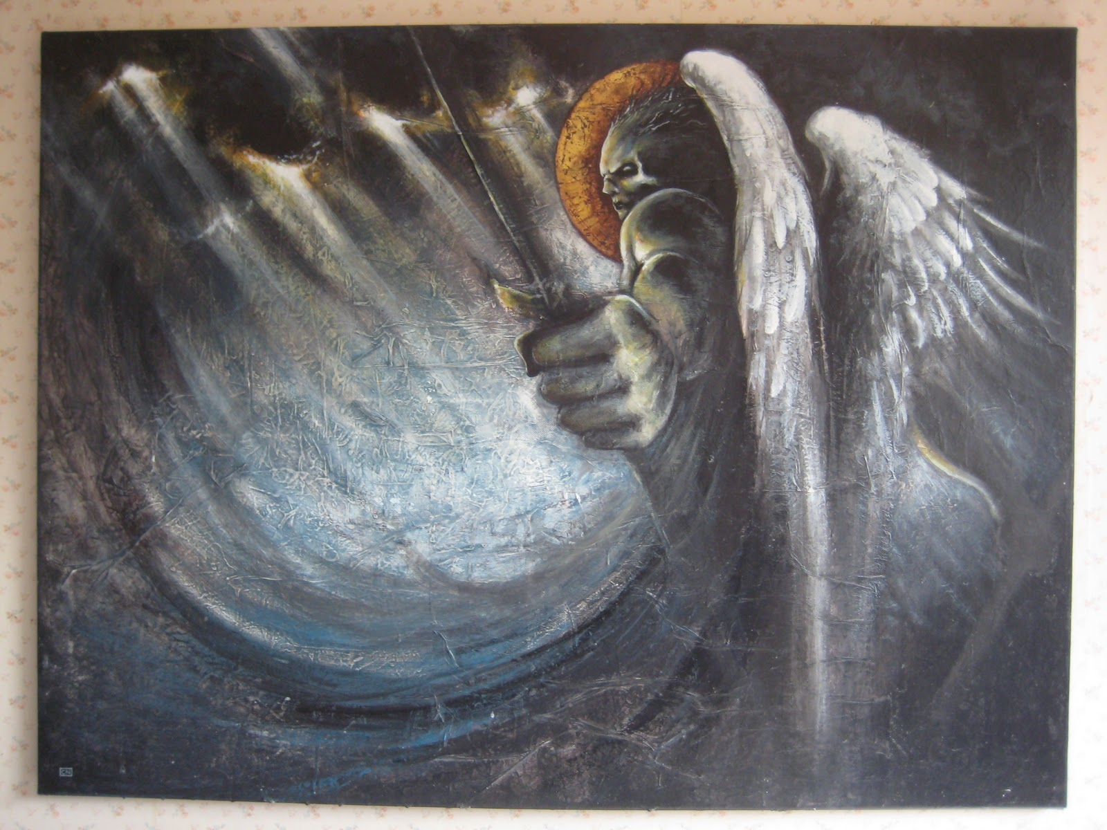 The parasite dimension angel painting for sale for Angel paintings for sale