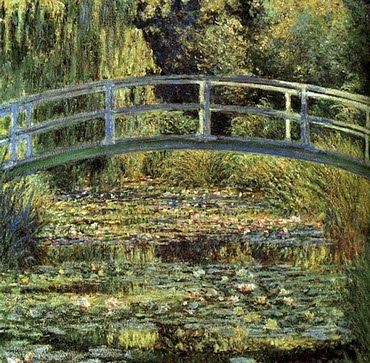 Bridge over a Pond of Water Lilies - Édouard Monet