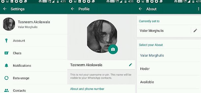 WhatsApp Revives It's Old Status Message Feature