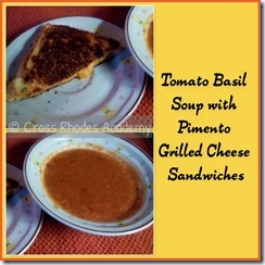 Tomato Basil Soup ~ Grilled Pimento Cheese