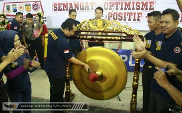 Kejuaraan Daerah Karate Inkanas Se-Jawa Timur Piala Kapolda Jawa Timur Ke-IV tahun 2019 yang digelar di Gedung Olah Raga dan Seni (GOR) Majapahit Kota Mojokerto
