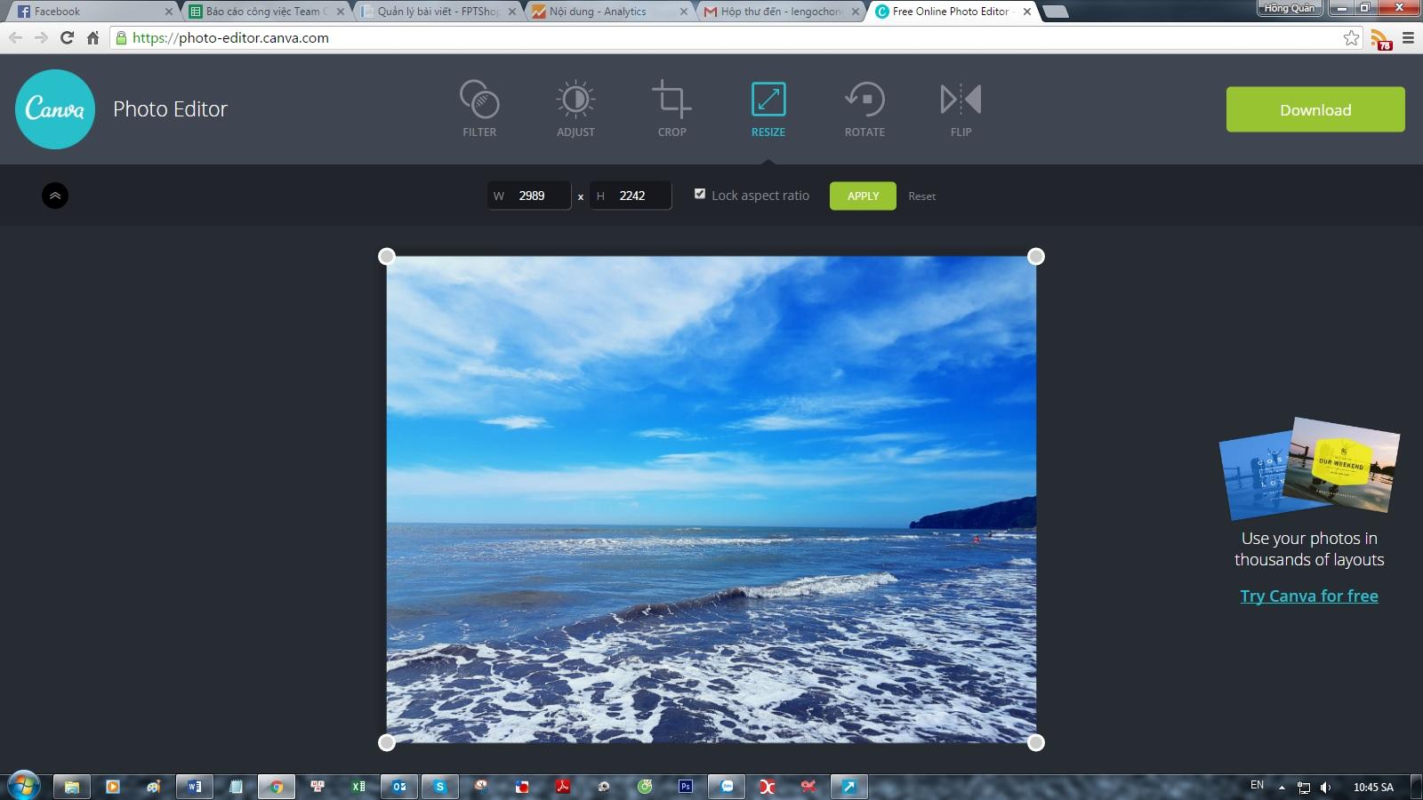 Canva Photo Editor