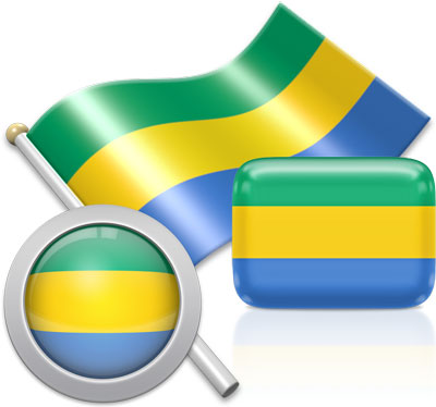 Gabonese flag icons pictures collection