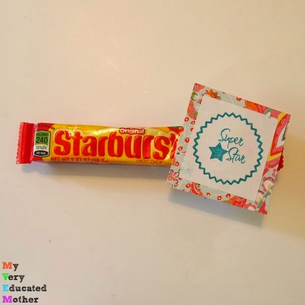 Great gift idea using candy and stamps!