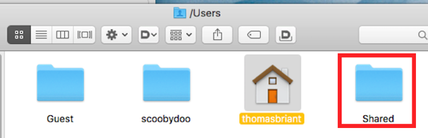 13 the Users Shared folder