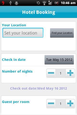 Скриншот HotelBooking
