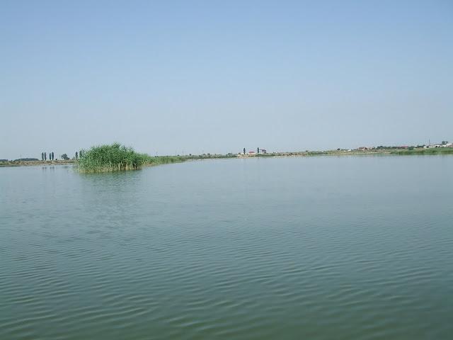 Luciu de apa pe lac la Mihailesti