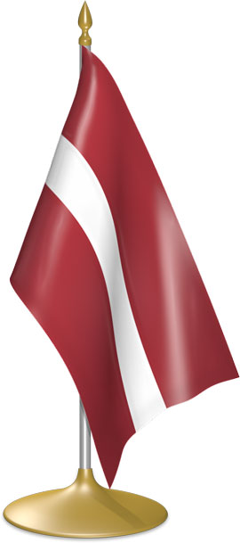 Latvian table flags - desk flags