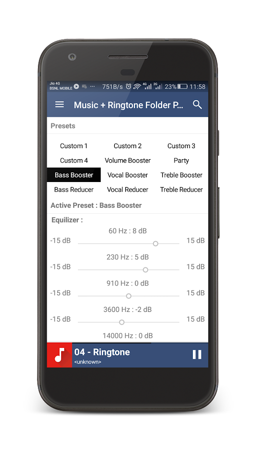Music + Ringtone Folder Player- screenshot