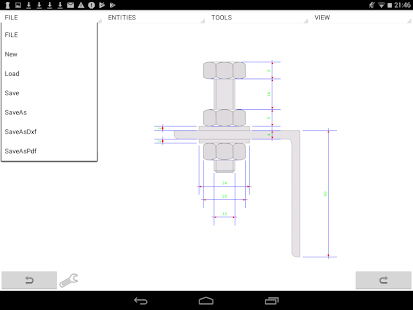 MobilCAD 2d CAD Screenshot
