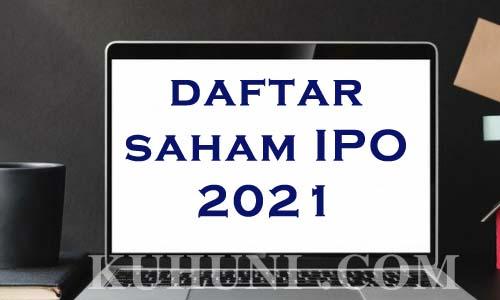 daftar saham ipo 2021
