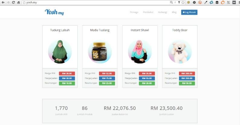 Platform Dropship Malaysia Yosh