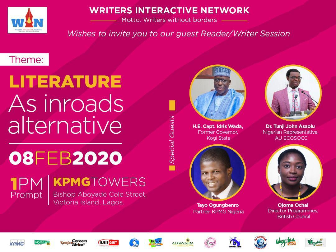 Join The Tribe Of Writer interaction Network Events At KPMG Towers, Victoria Island 8th February