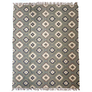 Wool Diamond Kilim Area rug