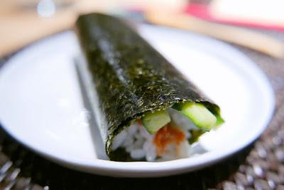 Handroll from Nodoguro Hardcore Sushi Omakase 1/31/2016