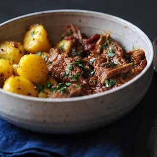 Lamb Madras With Bombay Potatoes.