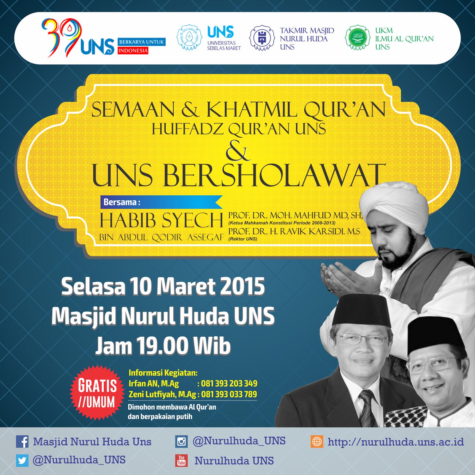 UNS Bersholawat Bersama Habib Syech - 10 Maret 2015