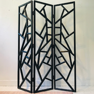 Modernist Lacquered Wood Screen