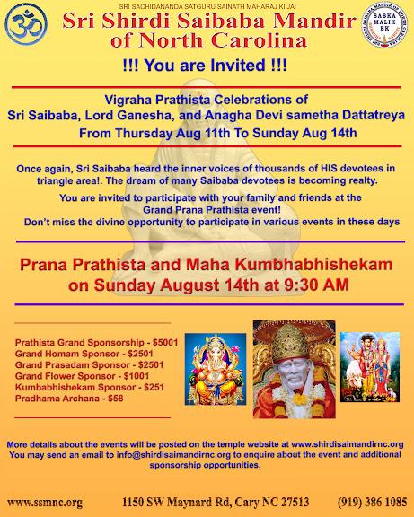 Today: Starting Vihraha Prathista Celebrations