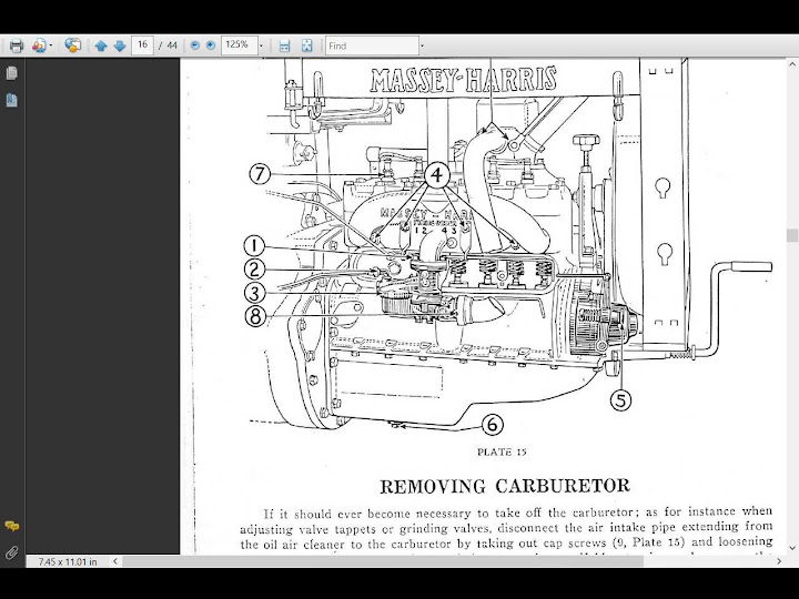 Massey Harris Gp 4wd Tractor Service Manual 100pg For