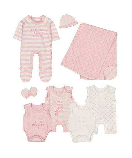 Набор из 8 элементов для недоношенных детей розовый 5555121 купить