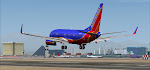 After a 5+ hour cross-country flight from Providence, Southwest 1163 is moments from touching down in Lost Wages