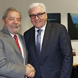 Encontro com o ministro das Relações Internacionais da Alemanha, Frank-Walter Steinmeier