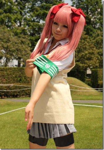 to aru kagaku no railgun cosplay - shirai kuroko 2 from summer comiket 2011