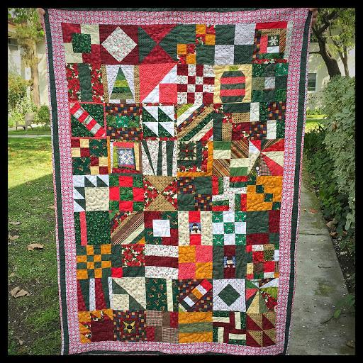 Christmas scrap quilt