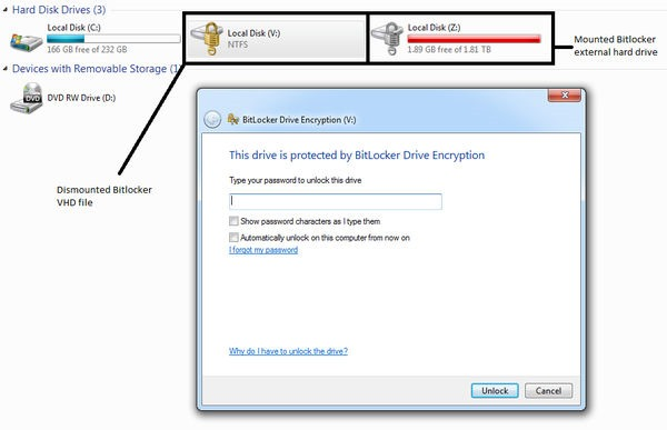 bitlocker drive protected