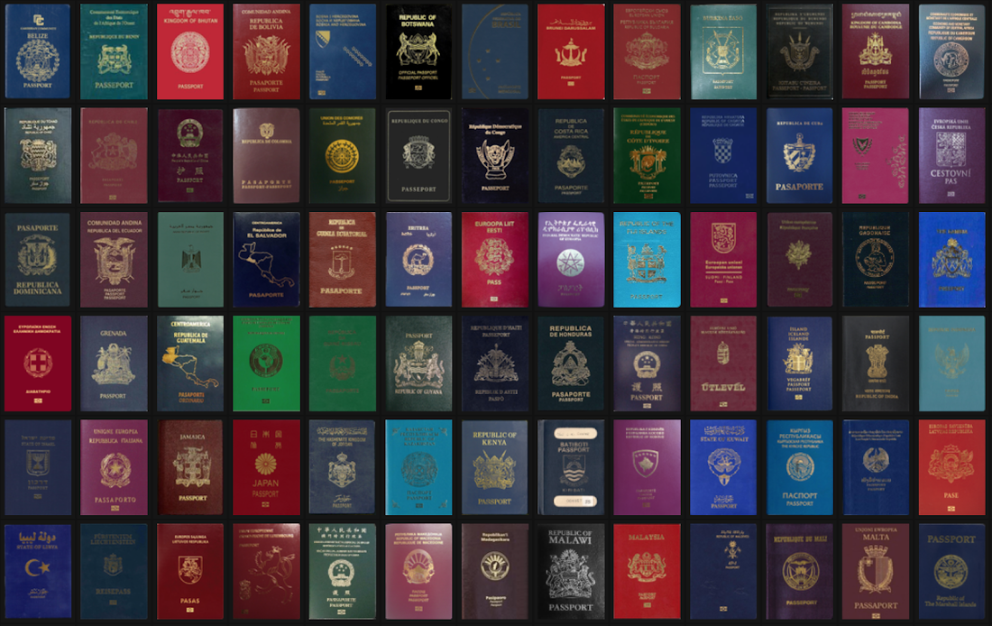 Какого цвета паспорт Фиджи?