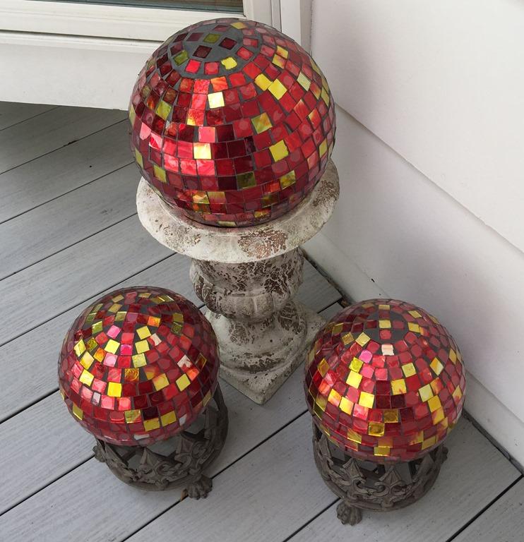 [3+red+mosaic+gazing+globes+on+deck%5B4%5D]
