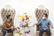 Pertemuan Plt Gubernur Sulsel Bersama GM PT Garuda Indonesia Makassar, Ini Yang Dibahas