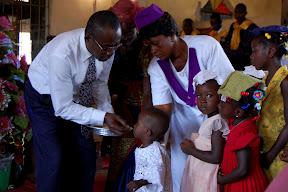 Children receiving communion